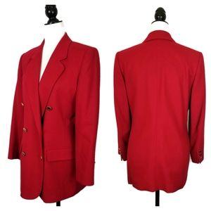 Pendleton Red 100% Virgin Wool Blazer